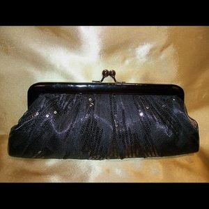 Black Clutch Bag with Chain